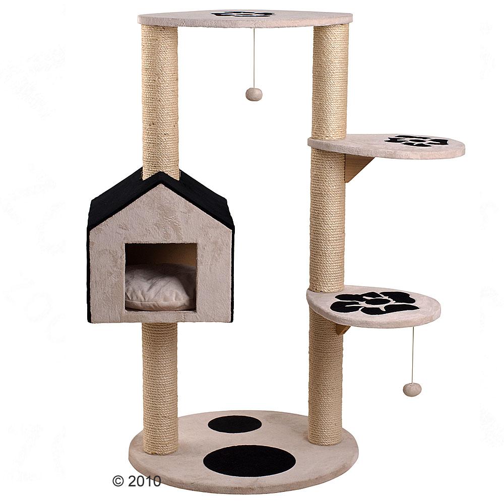 arbre chat monoplis flower noir blanc of zooplus fr be 189277 0. Black Bedroom Furniture Sets. Home Design Ideas