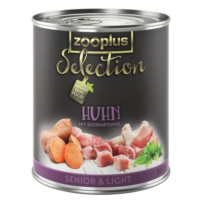 zooplus selection senior light poulet pour chien