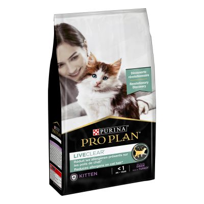 PRO PLAN LiveClear Kitten dinde pour chaton